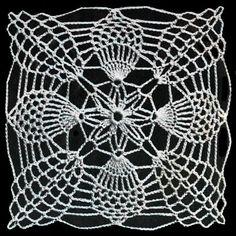 Pineapple Square No. S743 Pattern | Crochet Patterns
