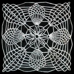 Pineapple Square No. S743 Pattern   Crochet Patterns