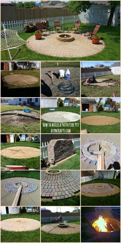Ingenious Outdoor Project: How to Build a Patio Fire Pit----THIS connected to a patio...gotta make it happen.. Outdoor Fire Pits, Paver Fire Pit, Fire Pit Area, Diy Fire Pit, Fire Pit Backyard, Backyard Patio, Backyard Landscaping, Backyard Seating, Modern Backyard