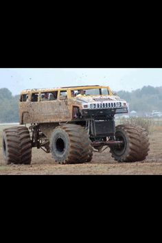 4 wheel drive hummer monster truck. I want one of these.