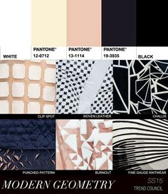 Geometry and black and white is still a strong trend Ss15 Trends, 2015 Fashion Trends, Color Patterns, Print Patterns, Spring 2015, Summer 2015, Spring Summer, Trend Council, Fashion Forecasting