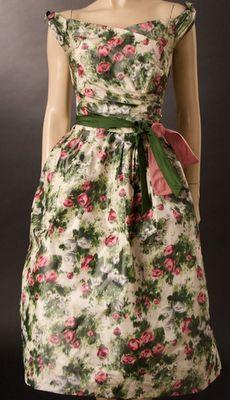 old roses vintage dress