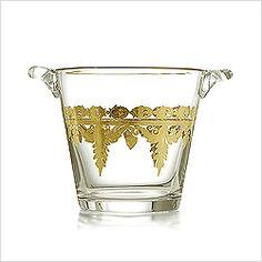 Arte Italica Vetro Gold Ice Bucket