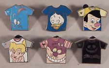 Disney Park Trade Pins T-Shirt Set - 6 Total Authentic Trading Pins - Brand NEW