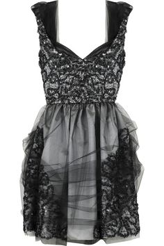 ANNA SUI  Sequined organza dress