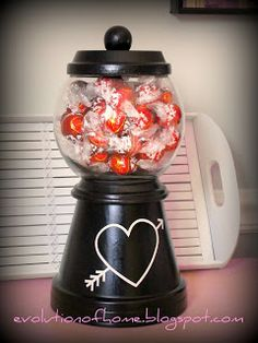 The Evolution of Home: Make A Gum Ball Candy Machine Out of Flower Pots