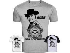"""The Dukes of Hazzard Inspired Rosco P. Coltrane """"Hush"""" T-Shirt Screenprinted by KingBossDesign on Etsy"""