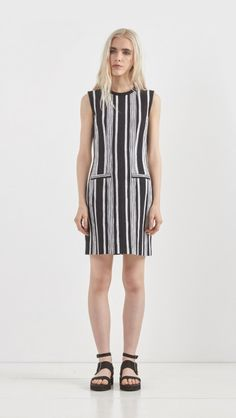 Carven // Striped Dress in Black and White
