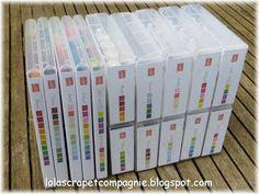 Lolascrap et compagnie: Rangement : Jaquettes pour feutres et recharges d'encre Stampin'up