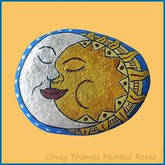 Painting Rock & Stone Animals, Nativity Sets & More: Rock Painting Ideas: Suns and Moons Painted on Stones
