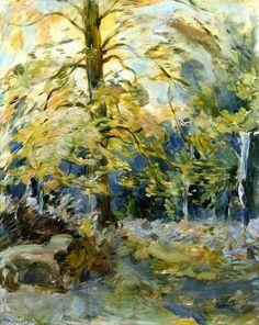 Forêt de Fontainebleau, huile sur toile de Berthe Morisot (1841-1895, France)