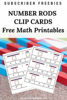 Addition Clip Cards - Free Math Printable - Montessori Nature