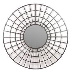 "Bancroft Round Metal Mirror 32"" $95 at Foundary"