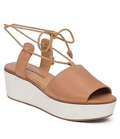 d8d1ef279ae Lucky Brand Jaxson Platform Sandals Lace Up Sandals