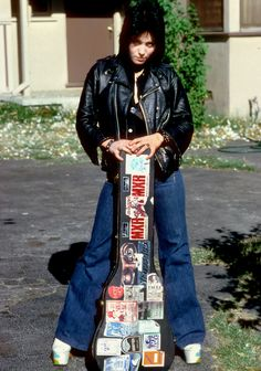 Joan Jett outside her family's home in Canoga Park, LA. December, 1976.