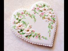 Mi pequeña panadería :): galleta hermosa del corazón .. Inspirado por bordado de la cinta de Lorra.