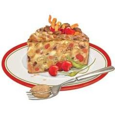 Fruit Cake Slice