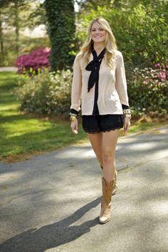 Khaki and lace
