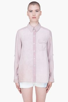 MARC BY MARC JACOBS Pastel Peach Button Blouse