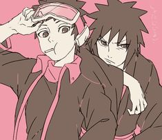 Madara and Obito ^0^ | via Tumblr | We Heart It #madara #obito #uchiha