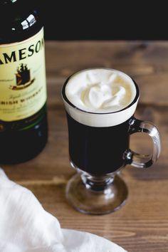 Traditional Irish Coffee — Sarah J. Irish Cocktails, Coffee Cocktails, Cocktail Photography, Coffee Photography, Cocktail And Mocktail, Cocktail Recipes, Drink Recipes, Fun Drinks, Yummy Drinks