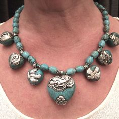 Stunningly gorgeous, I want, want, want > Silver, turquoise, Nepal