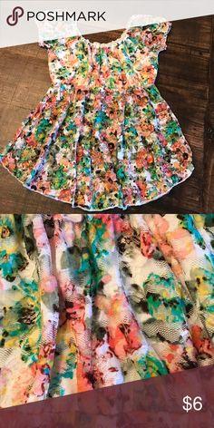 Colorful babydoll top Colorful babydoll top.  Perfect summer time shirt ☀️ No Boundaries Tops Blouses