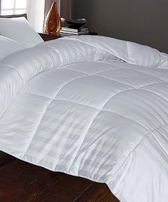 Another great find on #zulily! White Cabana Stripe Comforter by Blue Ridge Home Fashions #zulilyfinds