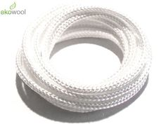 1 X 12' 3mm High Quality Ekowool Silica Wick Braided Hollow 3±0,3 Temp Res 1000°C
