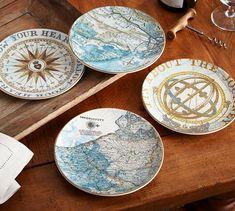 Journey Salad Plates, Mixed set of 4 | Pottery Barn