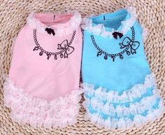 2013 new pet clothes, dog clothes fairy necklace lace skirt on Etsy, $12.00