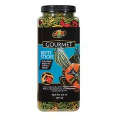Zoo Med Gourmet Reptisticks - 8.5 oz.  | Zoo Med's Gourmet Foods are carefully formulated to enrich your pet's diet with essential vitamins and minerals! Containing only the things that make your pet healthy, each diet is free of artificial colors, flavors and preservatives!