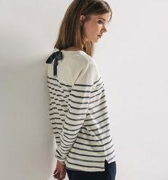 T-shirt marinière Femme rayé marine - Promod
