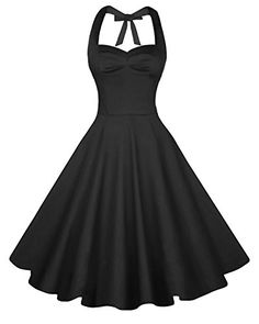 Anni Coco Womens Halter Polka Dots 1950s Vintage Swing Tea Dress  XLarge  2nd  Black >>> Check this awesome product by going to the link at the image. (Note:Amazon affiliate link)