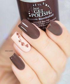Beige To Brown Nails - 45 Classy Nail Art Ideas Classy Nail Art, Classy Nail Designs, Gel Nail Designs, Cool Nail Art, Makeup Designs, Stylish Nails, Trendy Nails, Cute Nails, My Nails