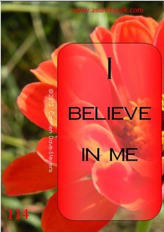 114 I believe in me | A Sunlit Walk