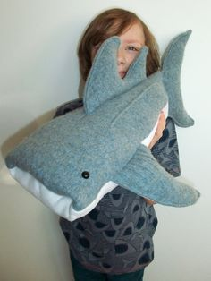 Wilbur Whale Shark Sewing Pattern - Large Soft Toy