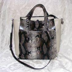 SIMPLY VERA Shopper, Vera Wang Reptile print Handbag, Joplin Tote, Natural Beige #SimplyVerabyVeraWang #TotesShoppers