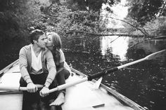 More of the Rowboat Engagement Session by Sheena Jibson from ruffledblog.com