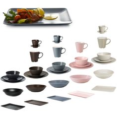 dinera 18 piece dinnerware set light pink glaze side plates and tables