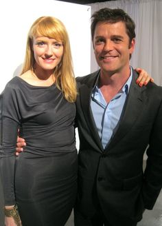 Helene Joy and Yannick Bisson