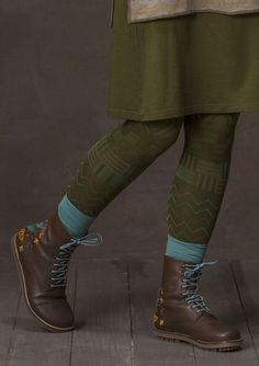 """Bronx"" leggings in recycled nylon/spandex – Accessories – GUDRUN SJÖDÉN – Webshop, mail order and boutiques We Wear, What To Wear, Boho Fashion, Winter Fashion, Bohemian Shoes, Gudrun, Colourful Outfits, Colorful Clothes, Patterned Leggings"