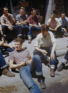 Boys on the walk, 1950 Tumblr