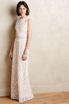 Korovilas Baroque Lace Column Gown #anthrofave #anthropologie #wedding