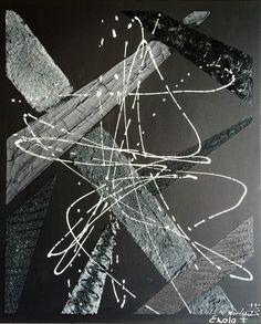 """""""L'élégance par excellence"""", tableau acrylique noir avec des effets de matières... A retourner et disponible à la vente sur mon site internet : celine-farnier.wix.com/enola69"""