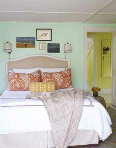 """Come Sail Away"" (Benjamin Moore) in the Bedroom"