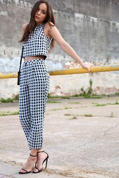 格子的時尚穿搭術,別怕像是野餐墊喔!