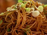 delicious chilled chinese noodles...you can find dark soy sauce at the dekalb farmer's market.