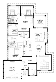 Malibu aveling homes house plans in 2019 дом, архитектура, м Home Design Floor Plans, Dream Home Design, My Dream Home, House Design, Best House Plans, Dream House Plans, House Floor Plans, Floor Plan 4 Bedroom, 4 Bedroom House Plans