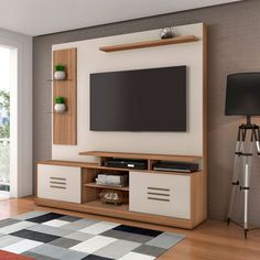 steady with the new style livingroom decor combined decor tv wall to impress a warm personality Stand Design, Tv Wall Design, Tv Unit Decor, Wardrobe Design Bedroom, Tv Decor, Kitchen Furniture Design, Tv Room Design, Living Room Tv Unit Designs